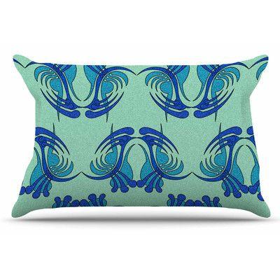 East Urban Home Aqua Curvaceous by Dan Sekanwagi Pillow Sham Size: Standard