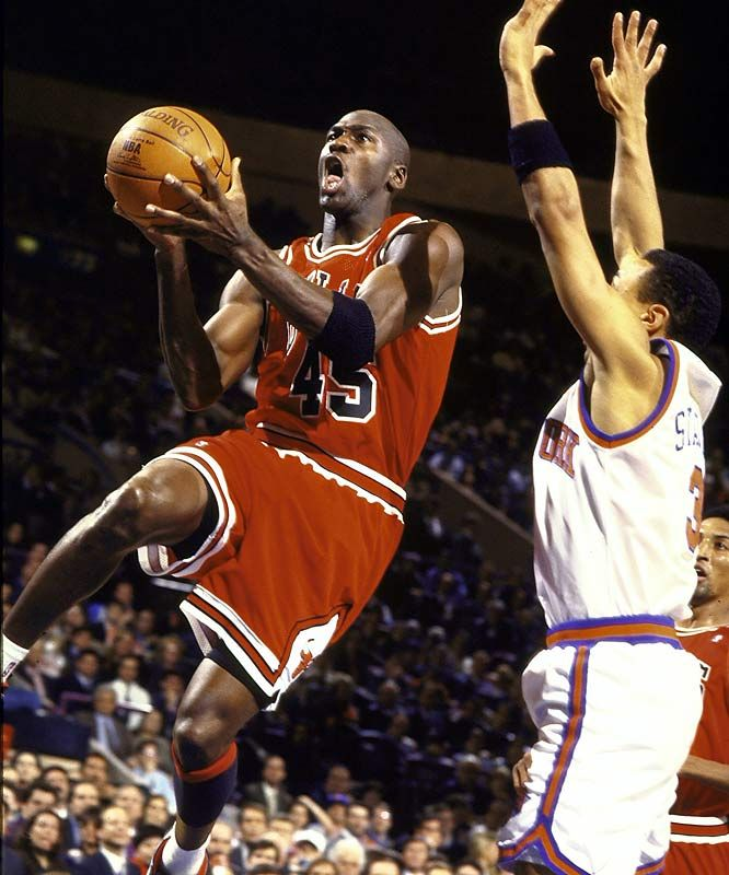In his fifth game back, Jordan scored 55 points against the Knicks at Madison Square Garden on March 28, 1995.