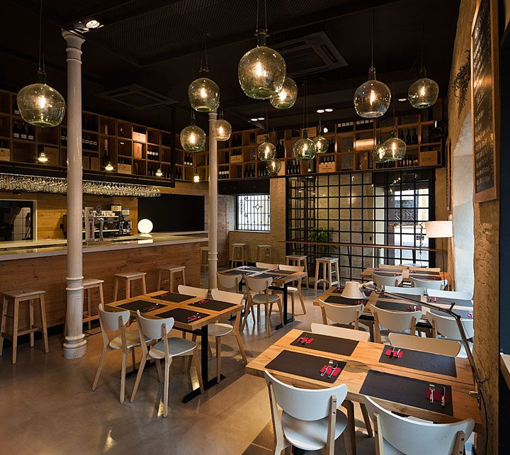pacatar restaurant by donaire arquitectos seville spain love the use of glass jugs for