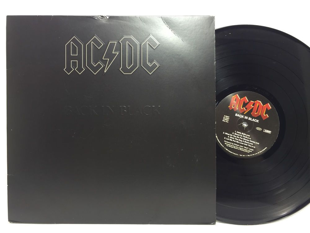 Ac Dc Back In Black 2003 190g Re Issue Vinyl Record Lp Embossed