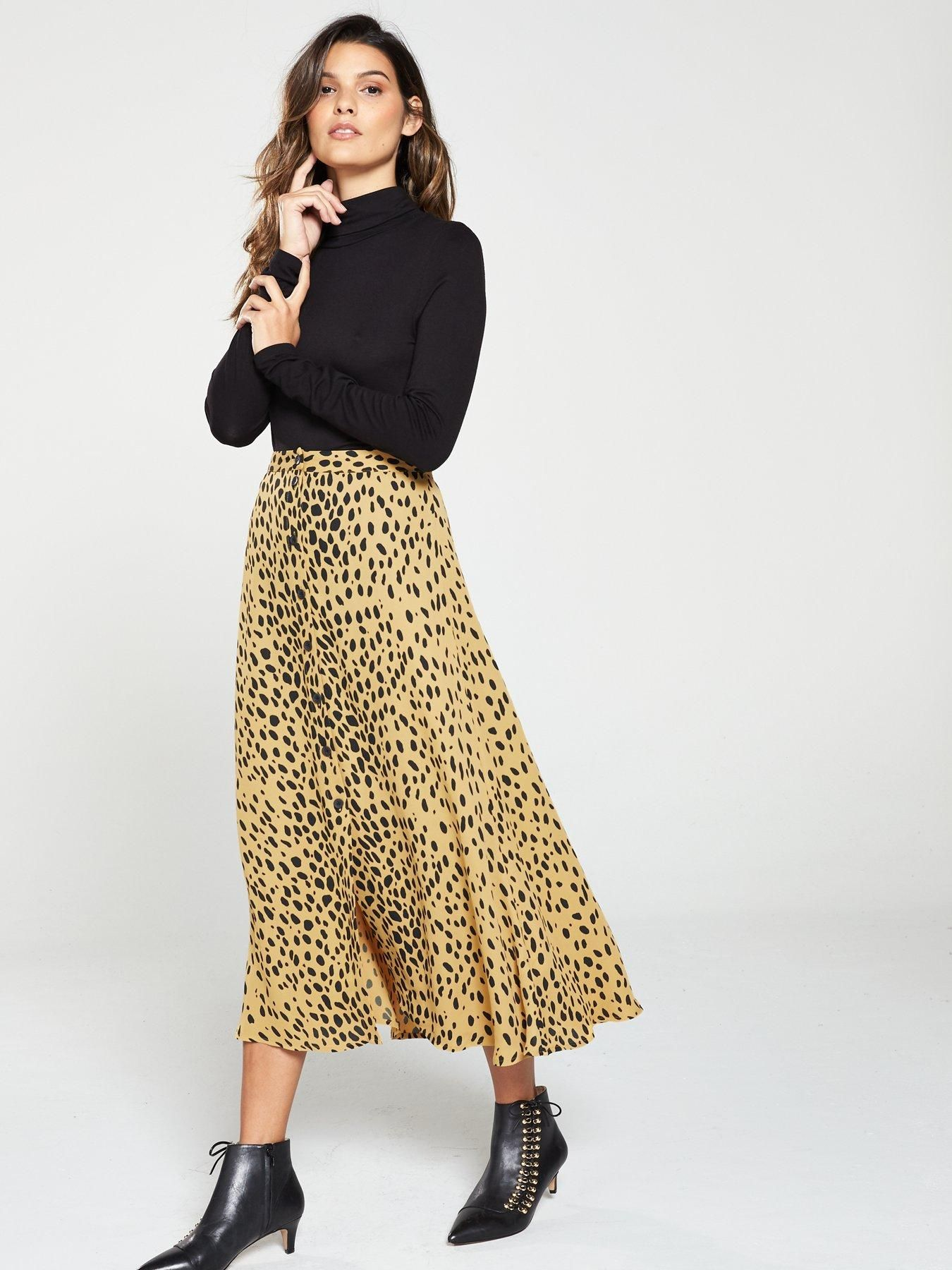 b141c47cdfba Animal Print Midi Skirt - Cream in 2019 | Style | Midi skirt, Skirts ...
