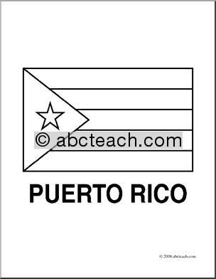 Puerto Rico Flag Coloring Sheet