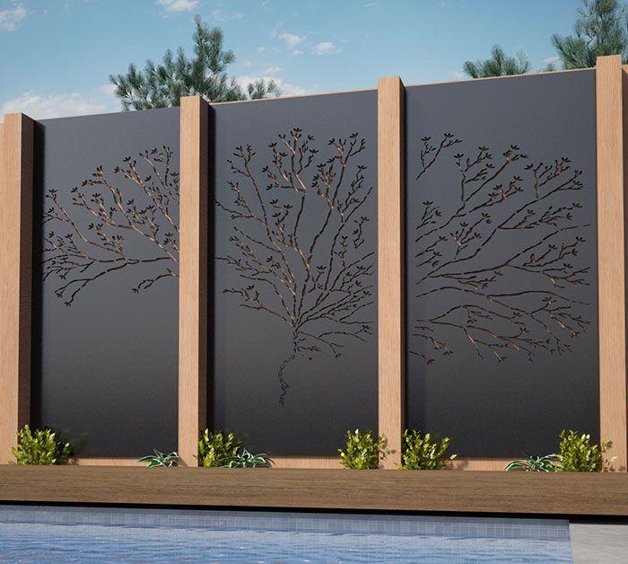 Back to Screens Lump Sculpture Studiou0027s u0027Tree Screenu0027 works - cascada de pared