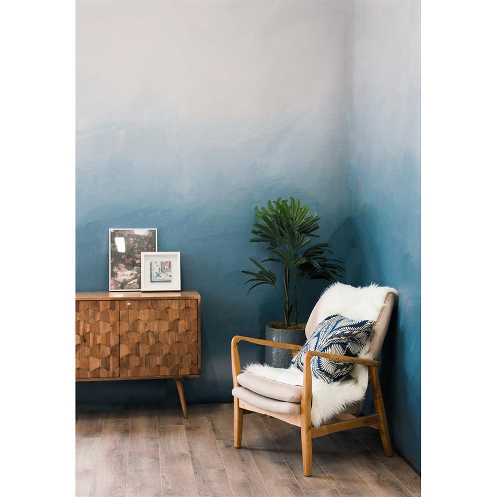 Anewall Roke Ombre Modern Classic Misty Blue Wallpaper