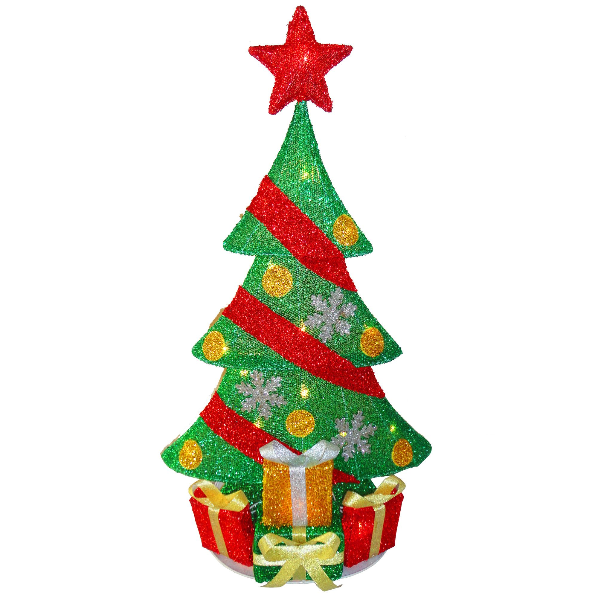 Decorative Décor Christmas Tree Decoration with 20 Clear Lights ...