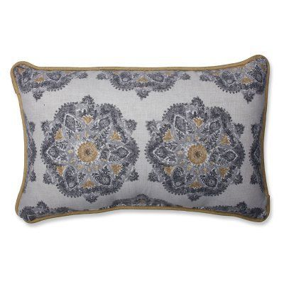 Gray Medallion Pillow   Pillows, Throw