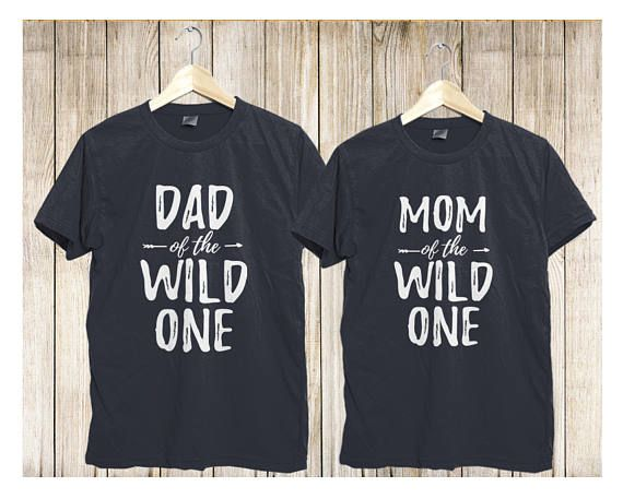 fc0b923fc Wild One Family Matching Shirts, Wild and One shirts, Mom of the Wild One,  Dad of the Wild One, Wild One Birthday Shirts, dad and mom shirts.