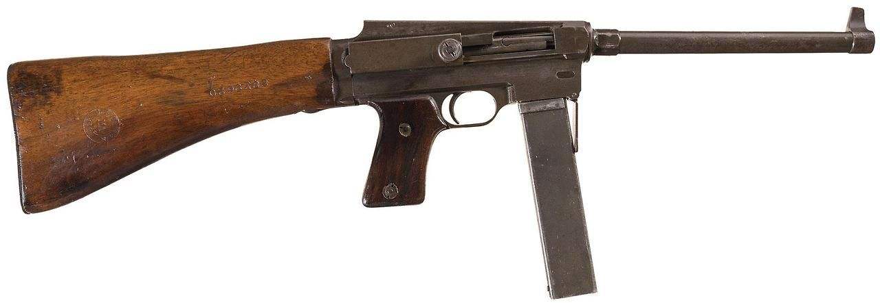 MAS-38    In the early 1930s Manufacture d'Armes de Saint-Étienne (MAS) developed the Pistolet Mitrailleur MAS Modèle 38, in a response to the French military's call for new submachine gun.
