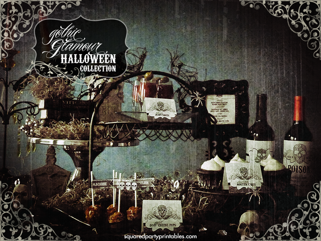 Gothic Victorian Halloween Bling Party Halloween Party Ideas