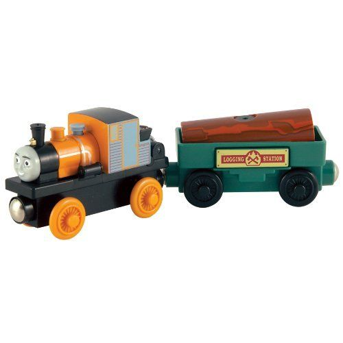 Thomas and Friends Wooden Railway - Dash and the Jumping Jobi Wood by Learning Curve. $17.79. Brightly colored to attract attention. Magnets to attach other cars and vehicles. Handmade from real wood. Push the button to watch the logs pop out. Plastic wheels. Thomas And Friends Wooden Railway - Dash And The Jumping Jobi Wood. Save 19%!