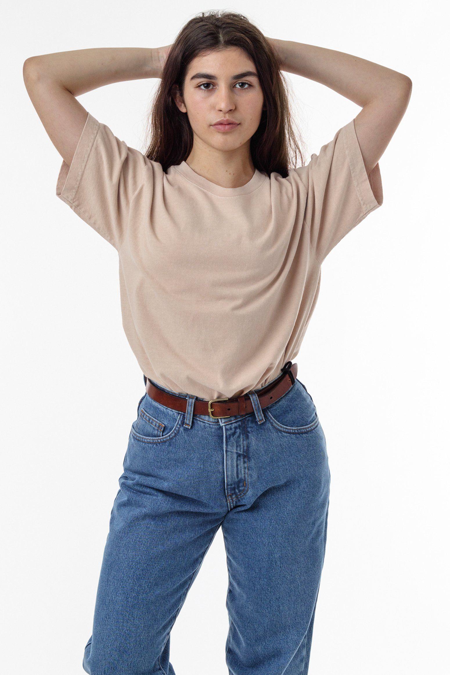 1801gd Unisex 6 5oz Garment Dye Pastel Crew Neck T Shirt Beige T Shirts Garment Dye Tshirt Outfit Summer