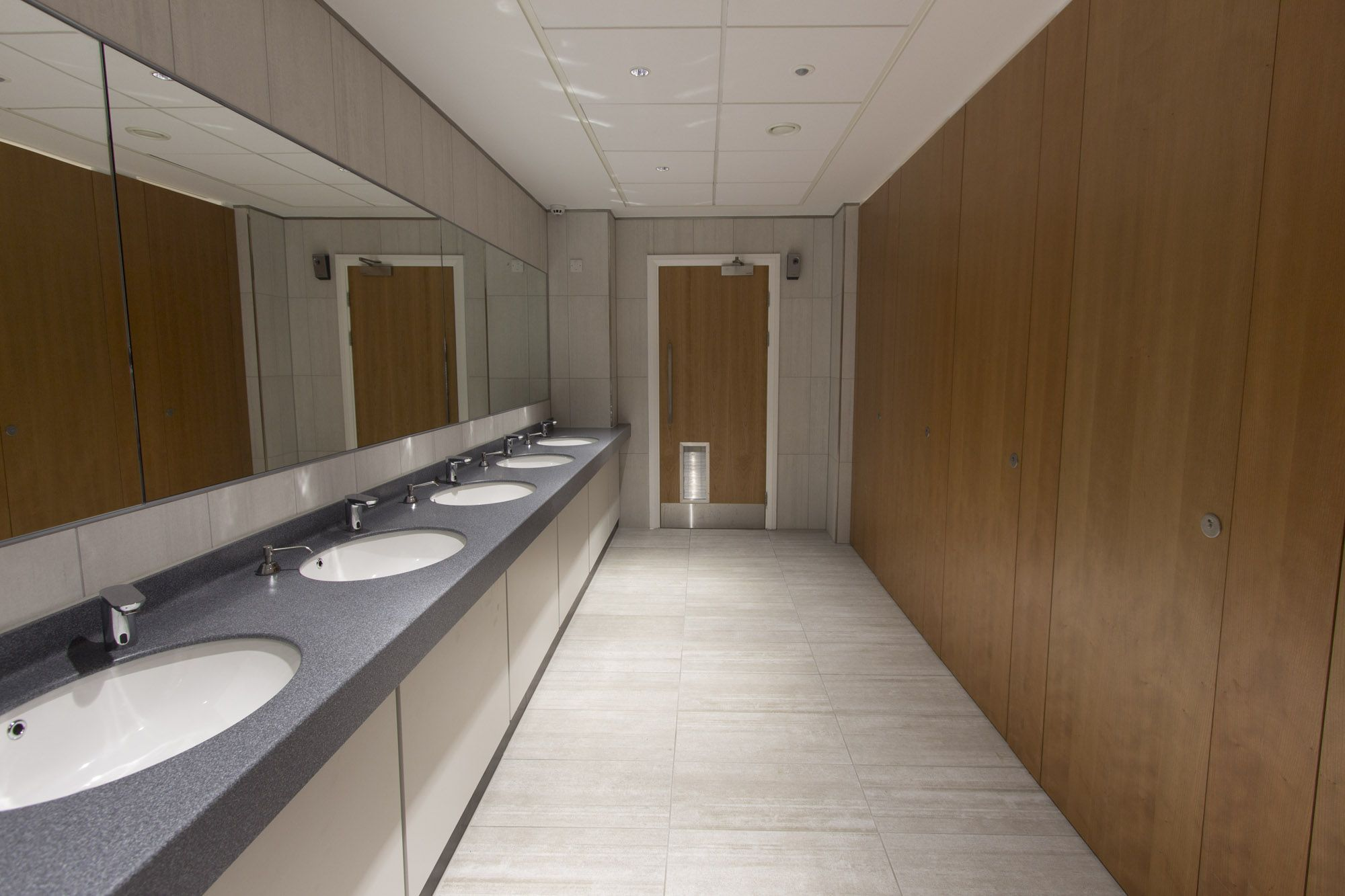 Modern Bathroom Design At A Contemporary Commercial Office