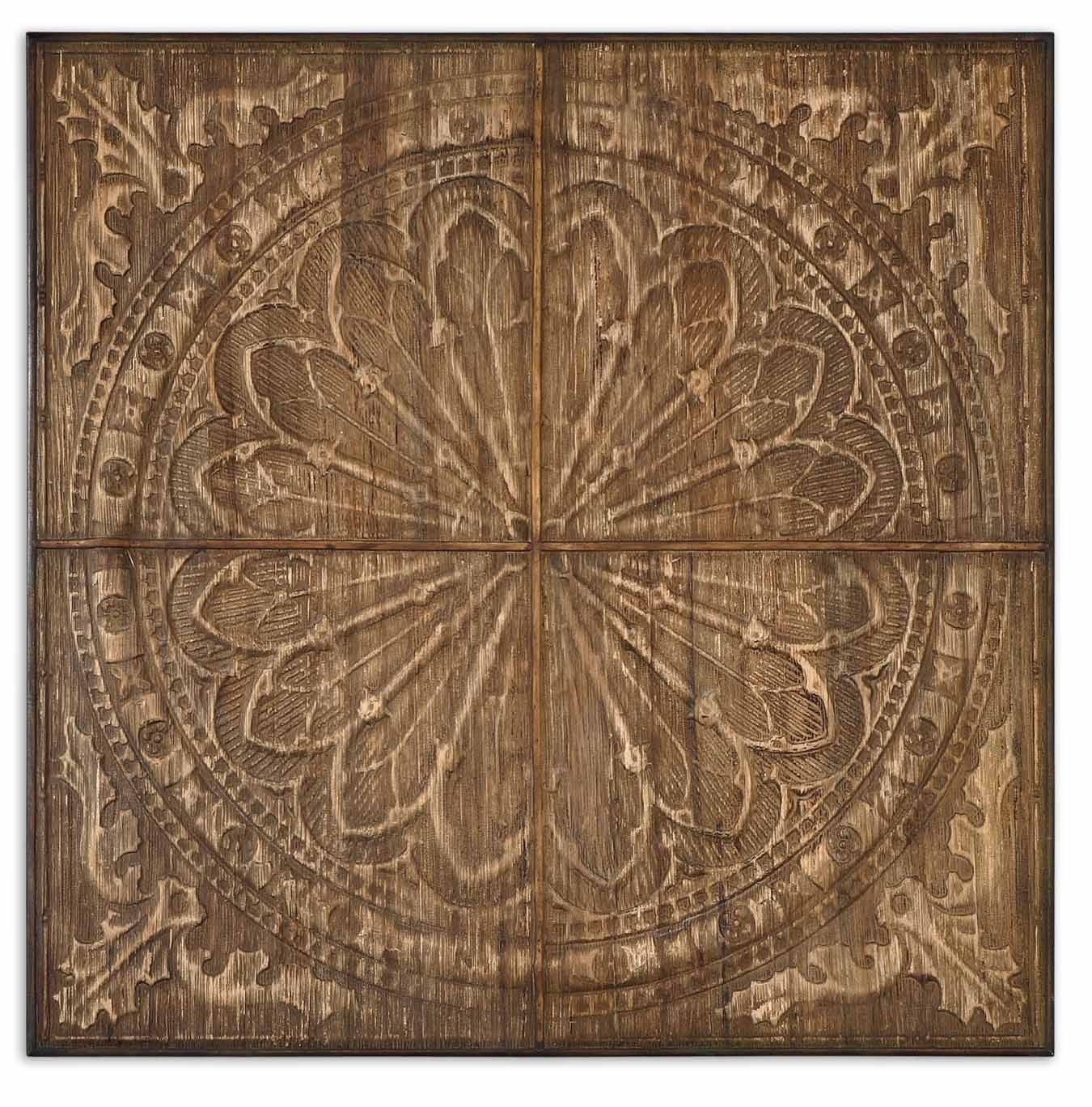 Uttermost camillus wall art in light antiqued stain accents
