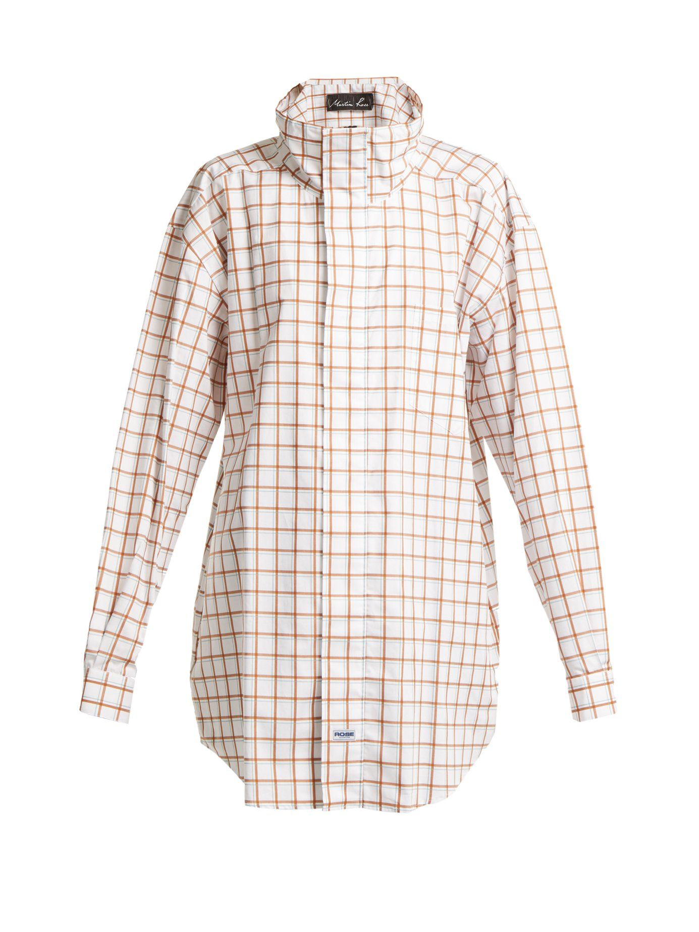 Footaction Sale Online Footlocker Cheap Online Checked high-neck cotton shirt Martine Rose Newest Online Manchester Great Sale Online Cheapest Vvl6f97u