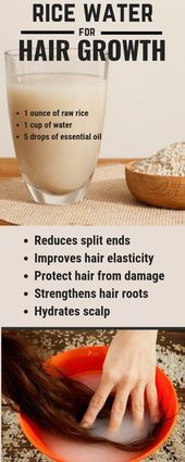 Use rice water for fast hair growth naturally Use rice water for fast hair growth naturally
