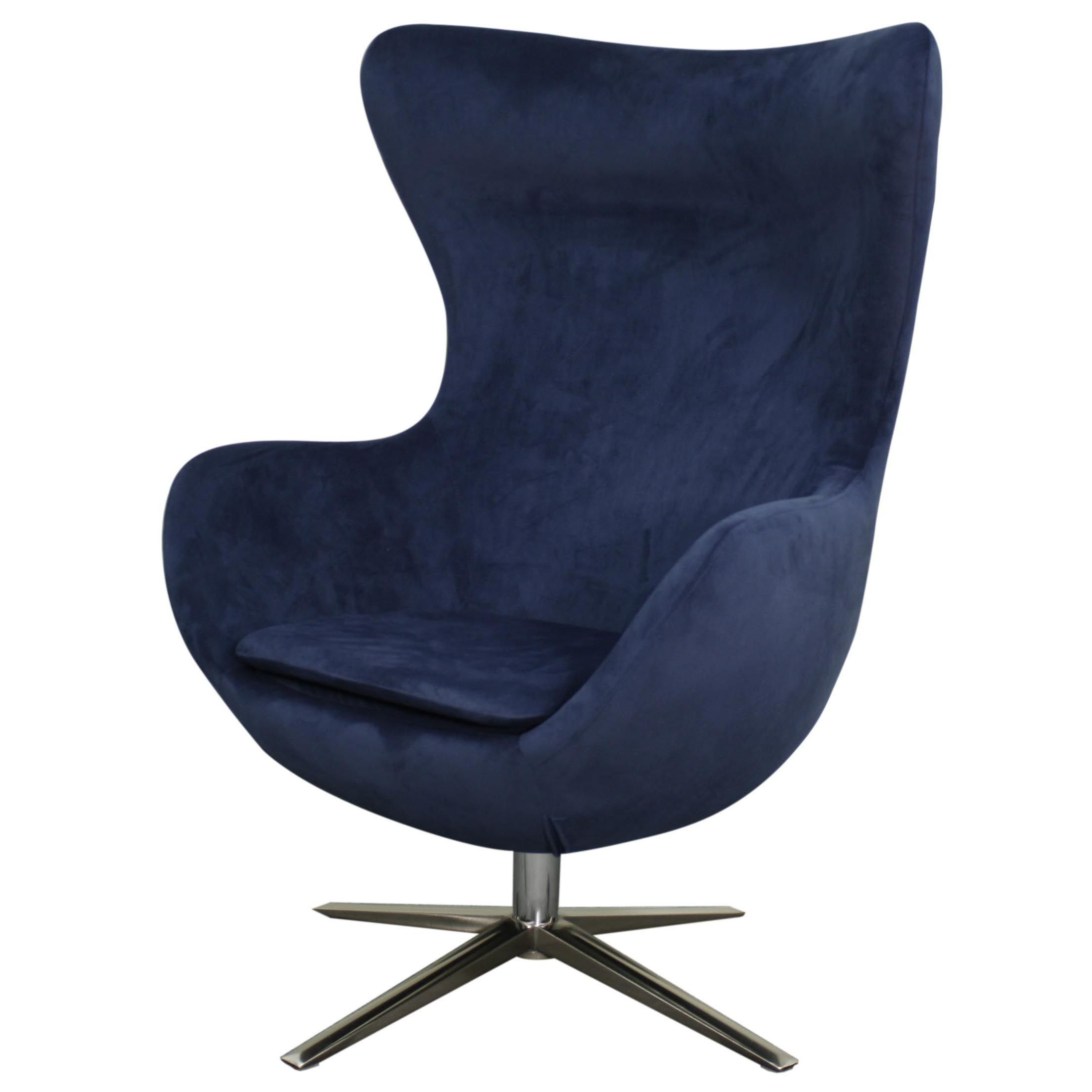 Best Finn Fabric Swivel Chair Chrome Legs Midnight Blue 453040 400 x 300