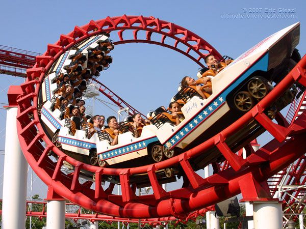 Great American Scream Machine Six Flags Great Adventure Six Flags Great Adventure Roller Coaster Greatest Adventure