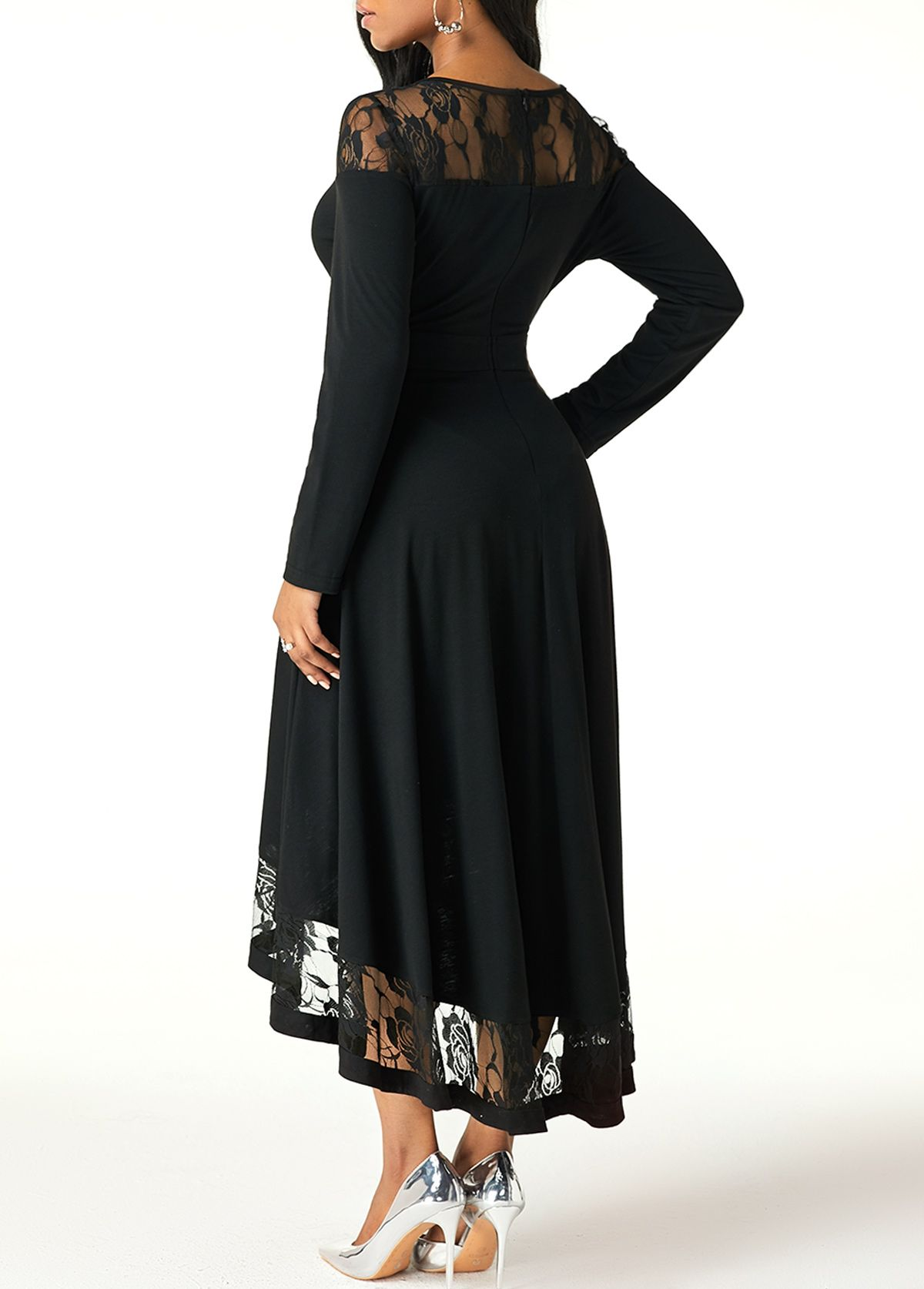 High Low Lace Patchwork Long Sleeve Dress Rotita Com Usd 31 96 Long Sleeve High Low Dress Long Sleeve Dress Shop Casual Dresses [ 1674 x 1200 Pixel ]