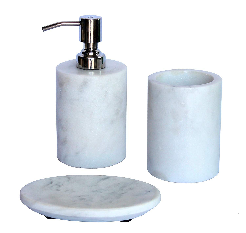 Kleo Bathroom Accessory Set Made From Natural Stone Bath