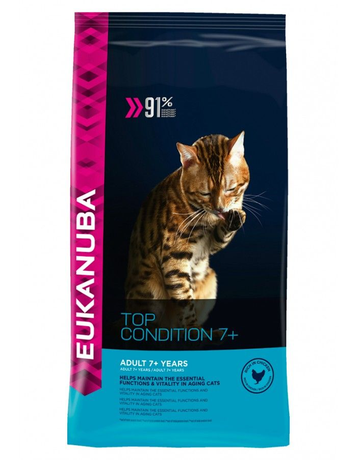 Eukanuba Cat Senior Top Condition 7 400 G Med Bilder Kattemat