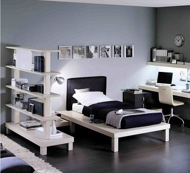 chambre ado fille noir et blanc roche bobois bois d co. Black Bedroom Furniture Sets. Home Design Ideas