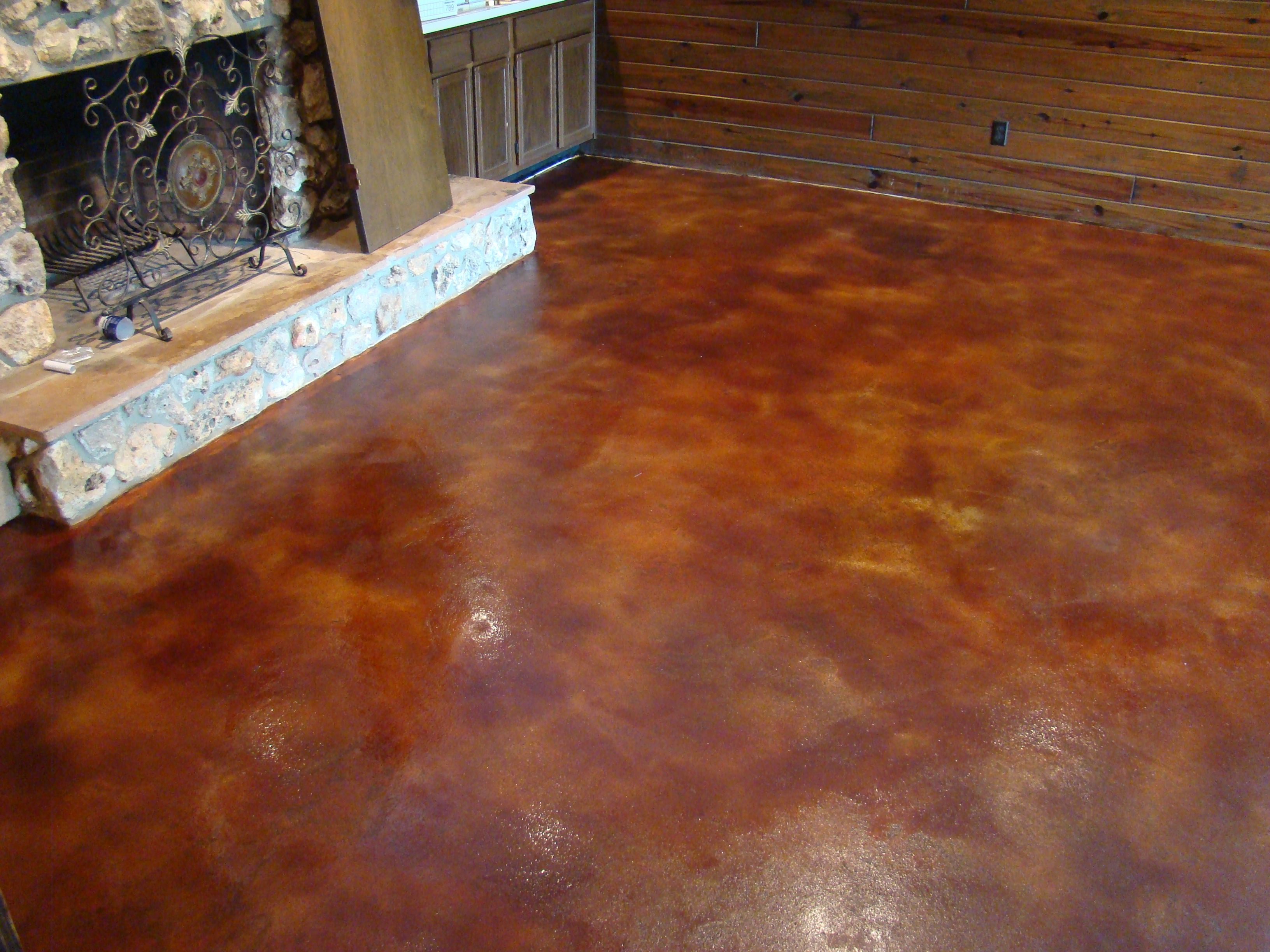 Etched in stone designs orlando fl stained concrete for How to care for stained concrete floors