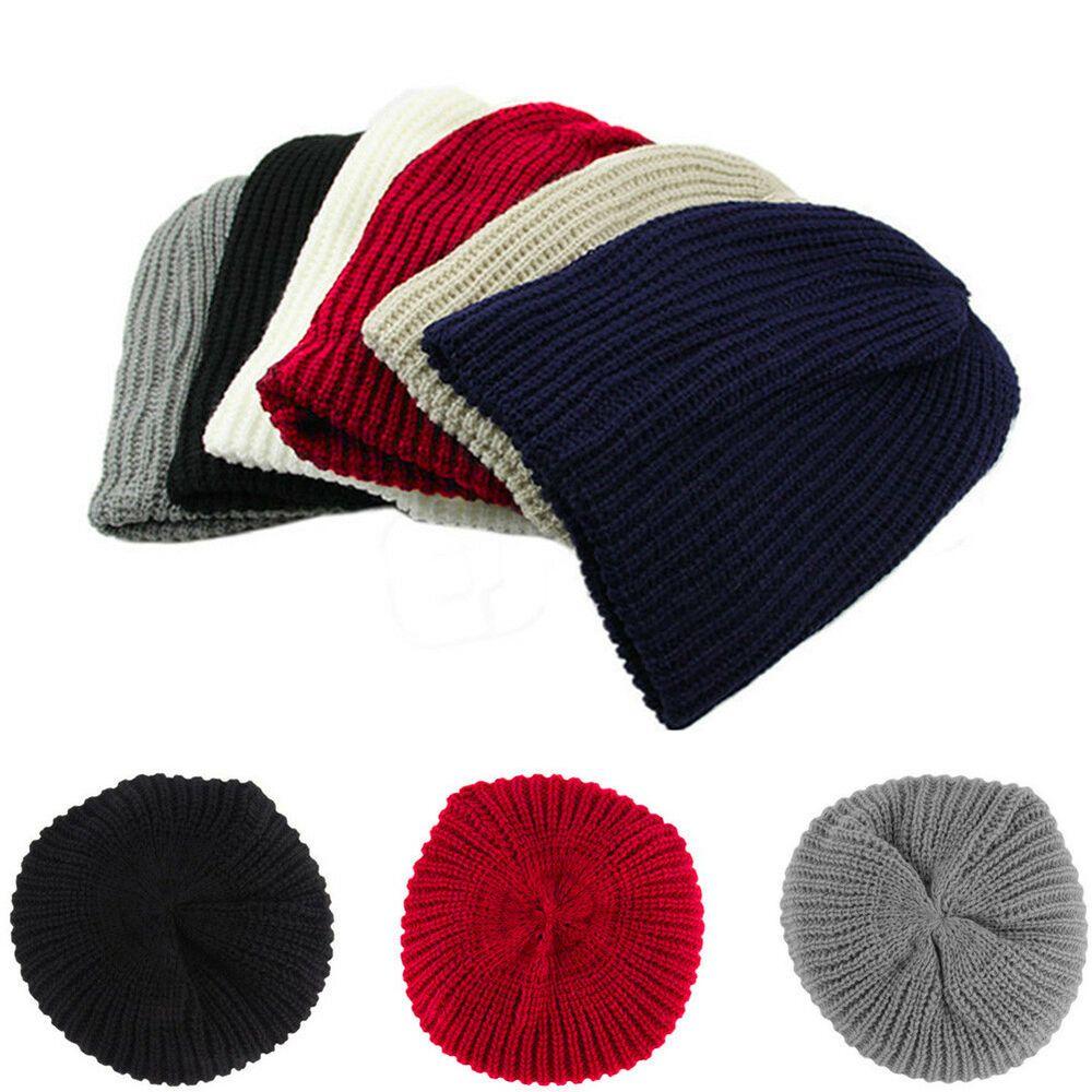 33fc139465 Unisex Men Women Wind Knitted Woolly Winter Slouch Beanie Skateboard ...