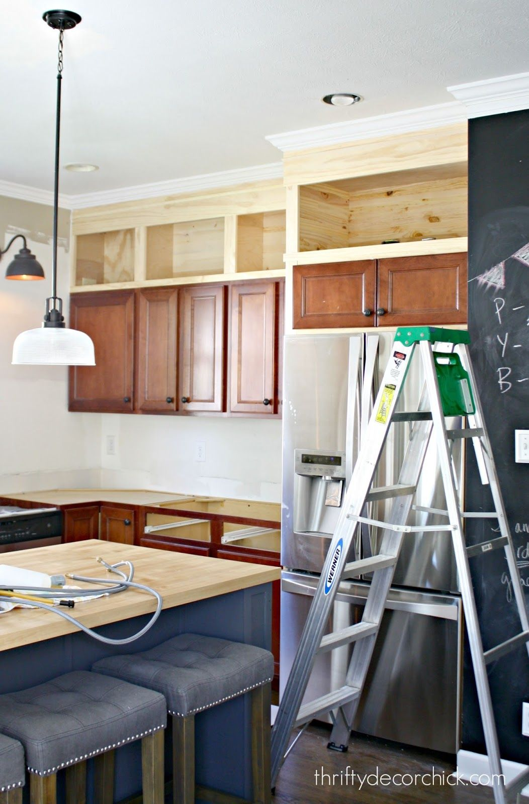 Should Kitchen Cabinets Go Up To Ceiling Building Cabinets Up To The Ceiling Diy Kitchen Cabinet
