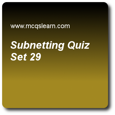 Subnetting Quizzes Computer Networks Quiz 29 Questions And Answers Practice Networking Qu Computer Network This Or That Questions Quiz Questions And Answers