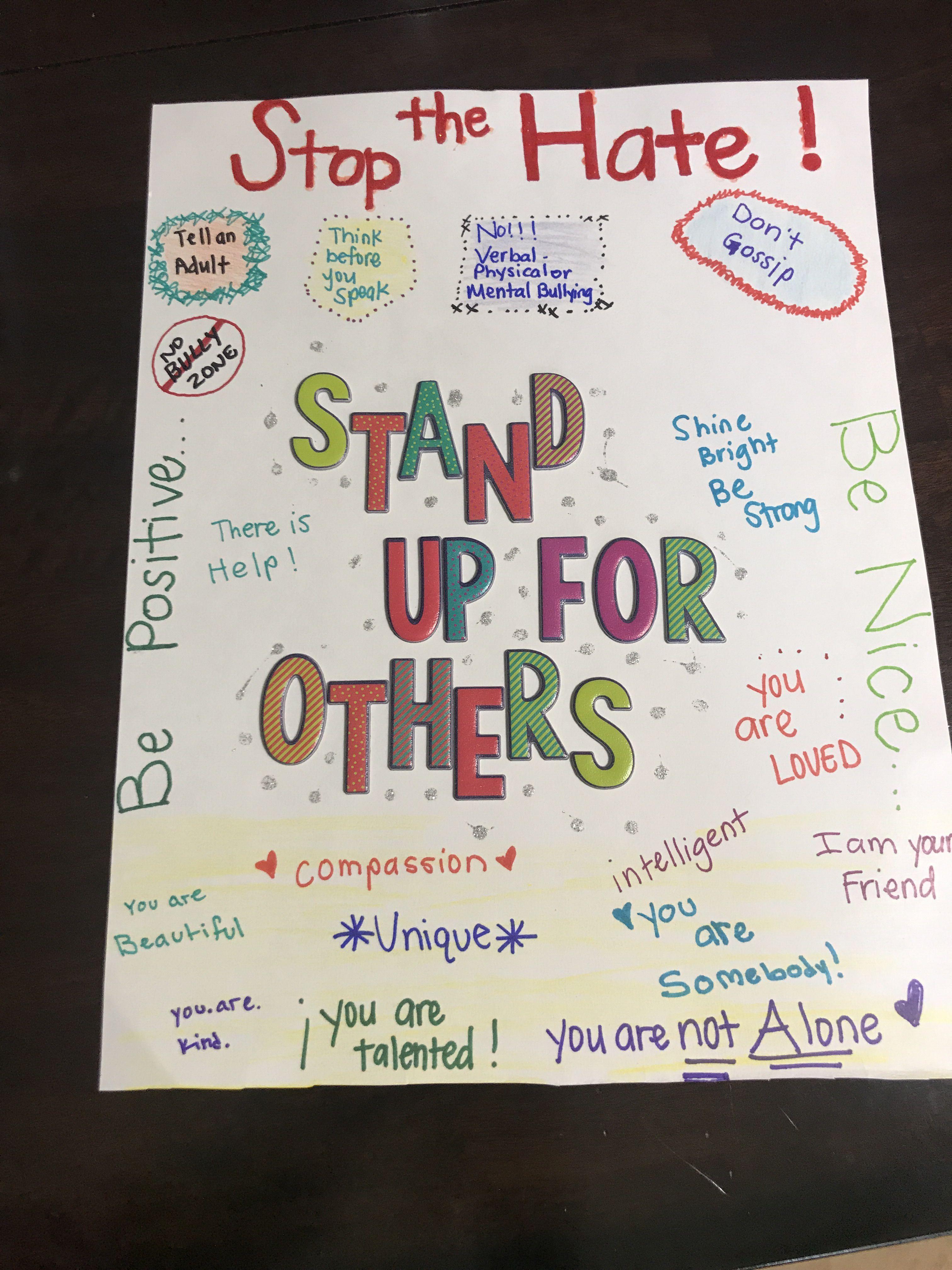 Anti Bullying Poster Idea
