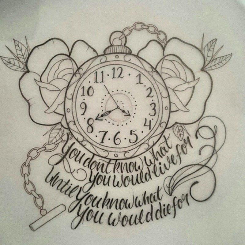 Love Tattoo Outlines: Maybe An Alice In Wonderland Quote Instead!