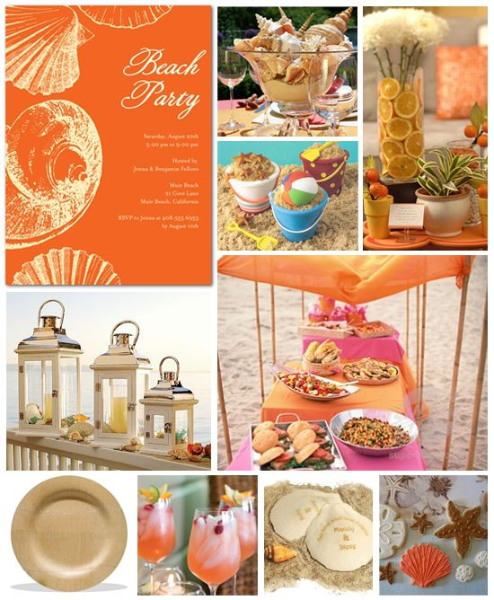Beach party invitations set the theme for your next pool party.