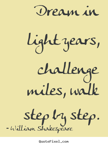 Dream In Light Years Challenge Miles Walk Step By Step William Mesmerizing William Shakespeare Quotes About Friendship
