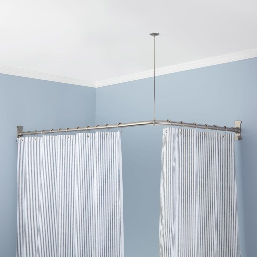 Eckbadewanne Duschvorhang Corner Bathtub Shower Curtain Rod Basic Bathroom In 2019