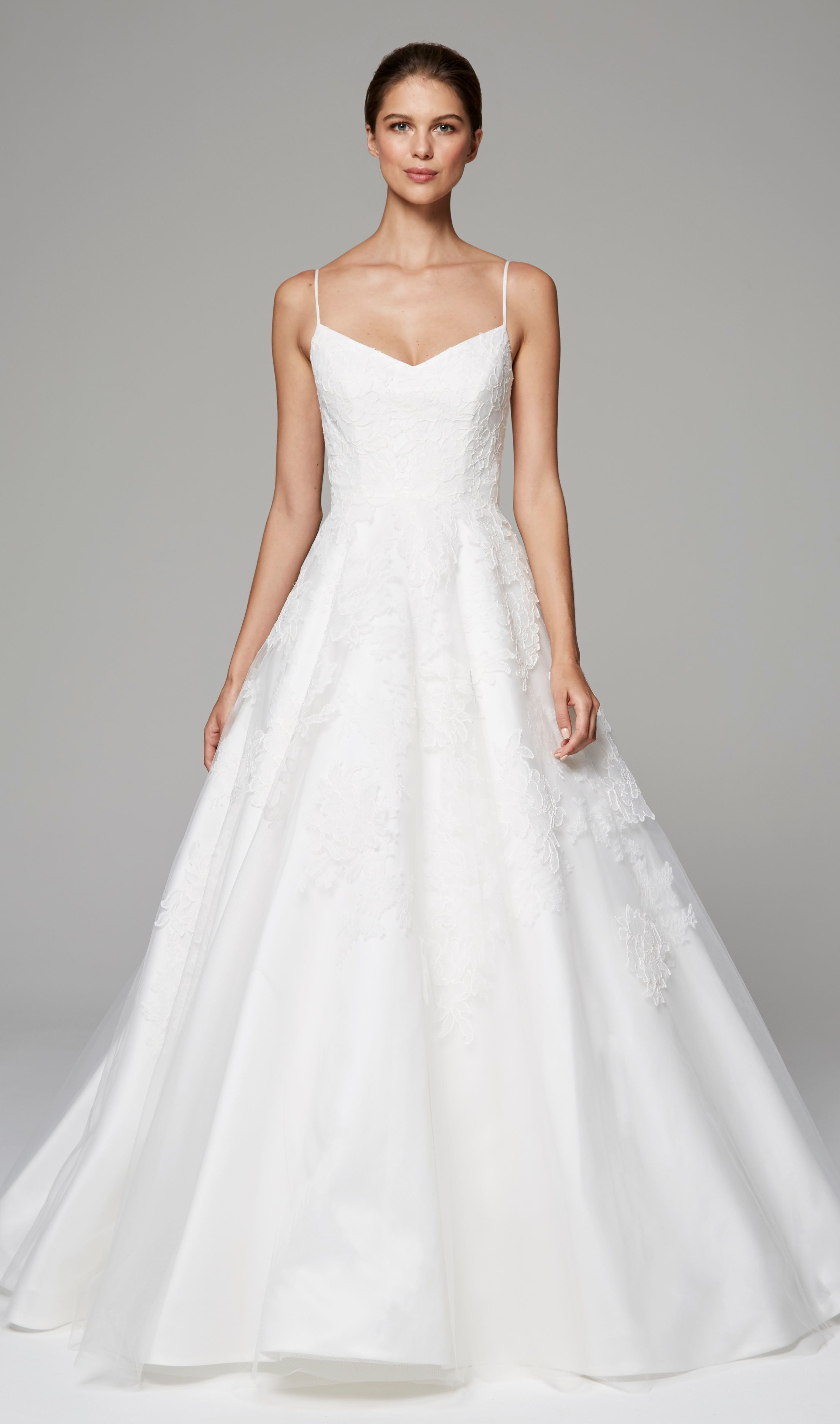 31fdd8be304c ARABELLA - Anne Barge Fall 2018 | Bridal gown with ballerina bodice of  appliqued Chantilly and Alencon laces with full skirt.