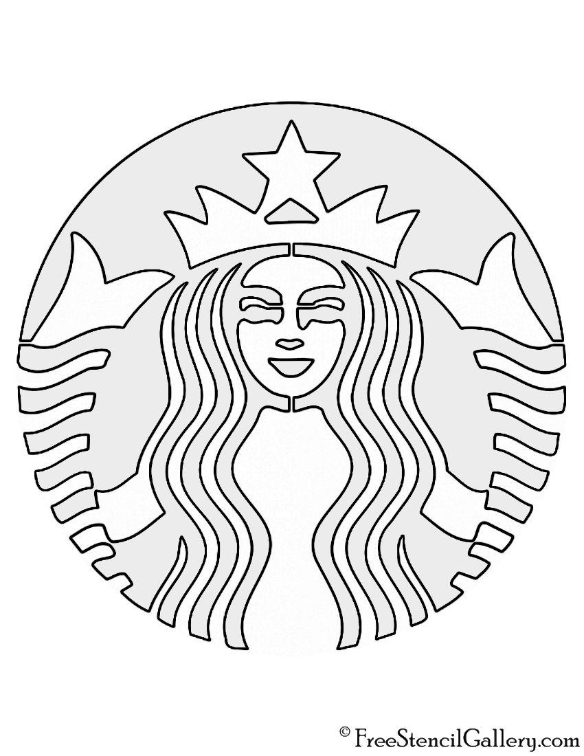 Starbucks Logo Stencil Starbucks Logo Starbucks Crafts Starbucks Diy