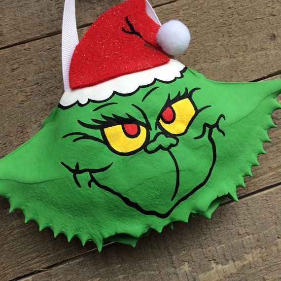 Dr Seuss S The Grinch Hand Painted Crab Shell Grinch