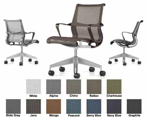 Herman Miller Setu Chair Home Office Desk Task Chair 5 Star Base With Ribbon Arms Graphite Frame Graphite Lyris Suspens Setu Chair Cheap Office Chairs Chair
