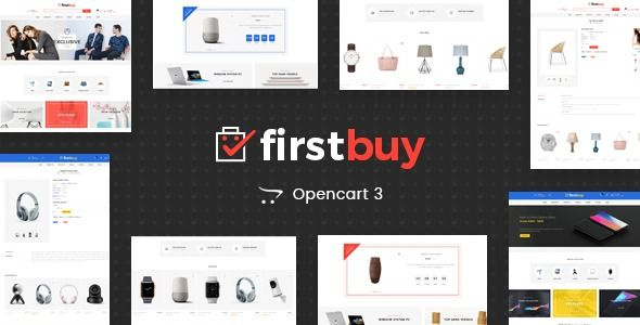 FirstBuy  Multipurpose OpenCart 3 Theme  FirstBuy OpenCart Responsive Theme is specially designed for electronics automation digital lighting autoparts car clothes furnit...