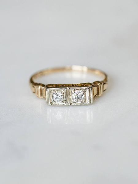 Two Stone Diamond Vintage Ring Evorden Vintage Rings Edwardian Engagement Ring Edwardian Diamond Ring