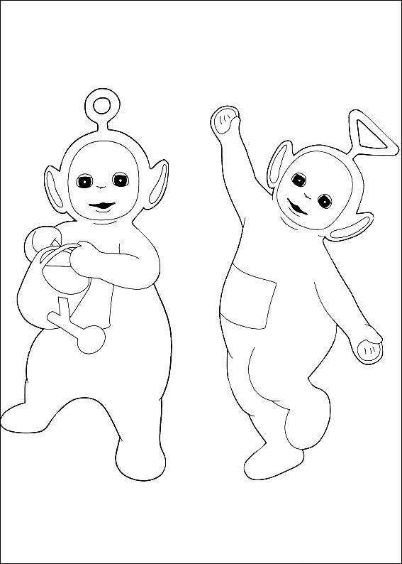 Teletubbies Fargelegging for barn. Tegninger for utskrift og ...