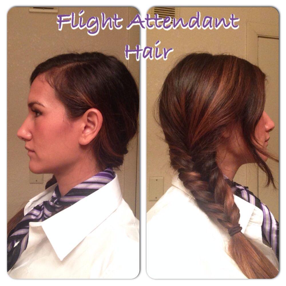flight attendant hair. fish tail braid #hair #braid