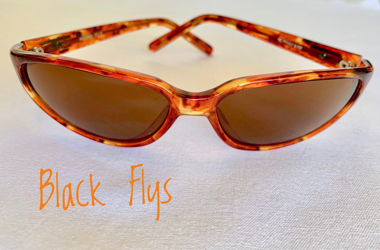 Black flys sunglasses with tortoise shell frame etsy