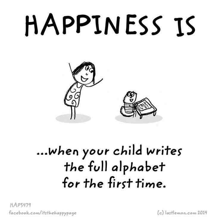 When Your Child Writes The Full Alphabet For The First Time Happy Quotes Good Thoughts Kids Writing