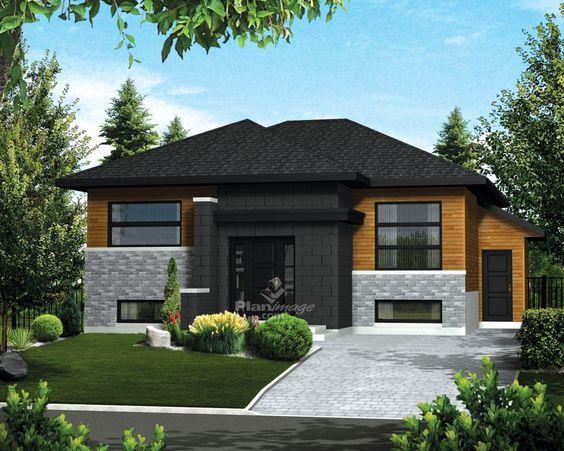 Cette élégante maison plain-pied à lu0027architecture urbaine dispose d