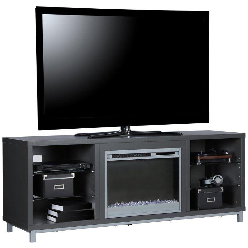 Latitude Run Ilyse 65 Quot Tv Stand With Fireplace Wayfair