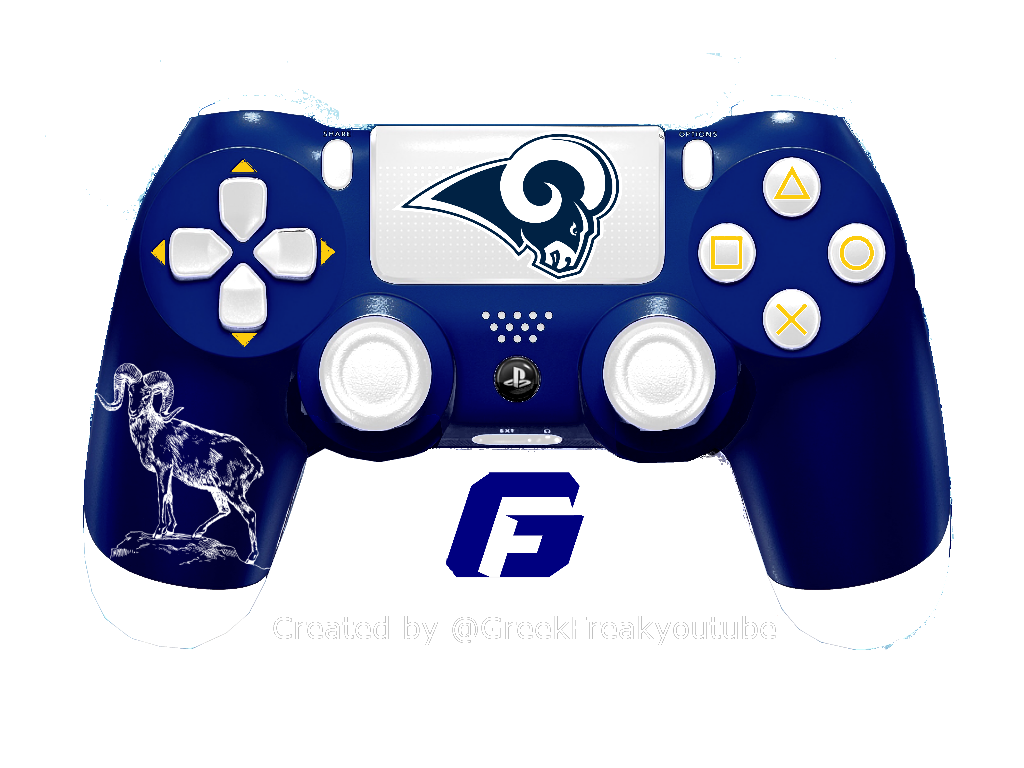 Check Out All My Nfl Ps4 Controller Concept Los Angeles Rams Design Rams Playstation Nfl Losangeles Losangelesrams R Ps4 Controller Gaming Products Nfl