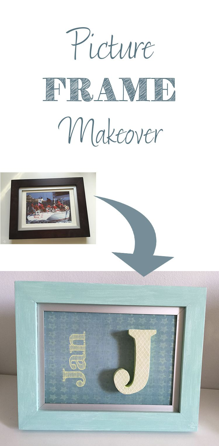 Picture Frame Makeover Turned Into A Kid Gift | Gift, Craft and Diy ...