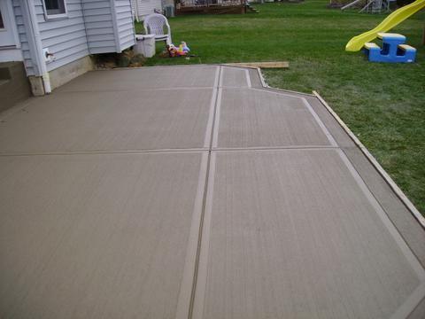 Concrete Patio Designs Photos   Standard Concrete Patio