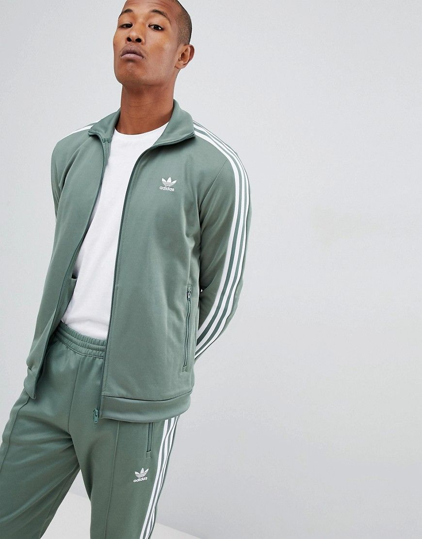 green adidas tracksuit mens
